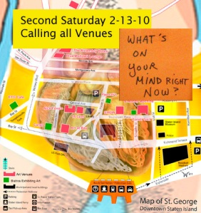 Calling all Venues Second Saturday February 13, 2010