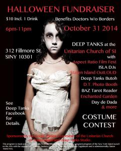 Deep Tanks Halloween Poster 2014